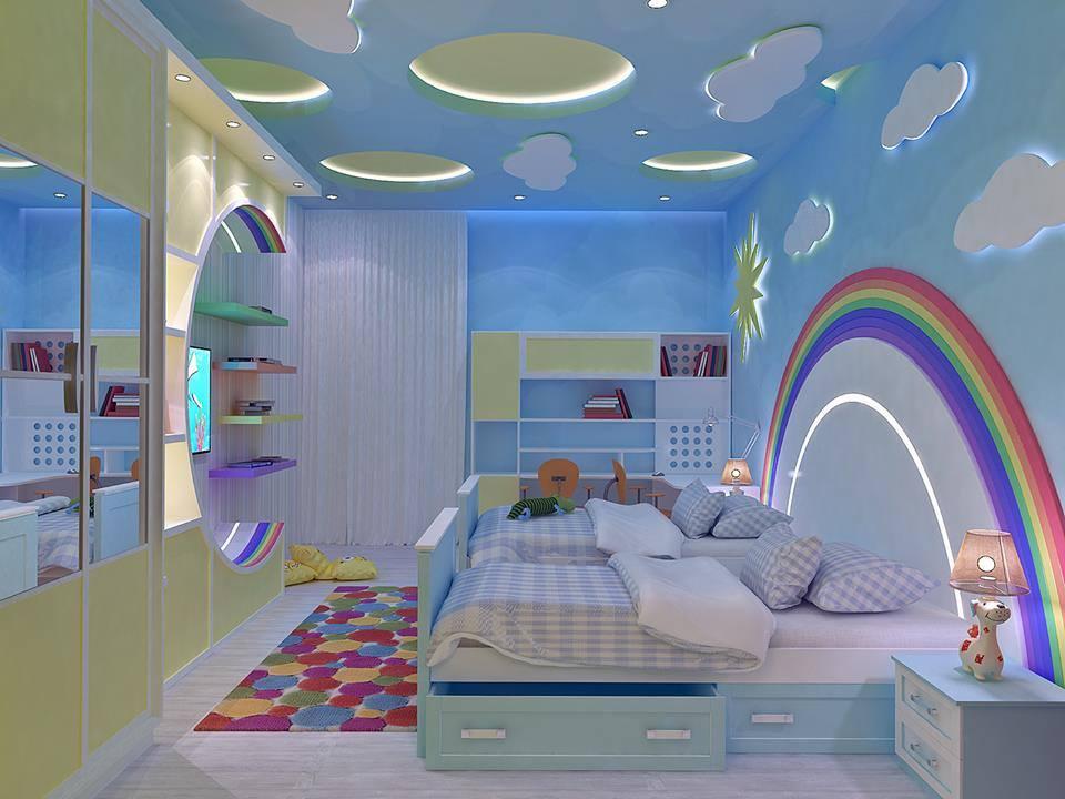ديكور جبس بورد غرف نوم 2020 16