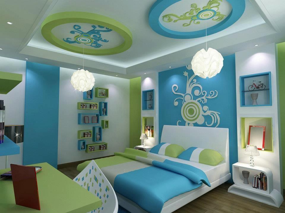 ديكور جبس بورد غرف نوم 2020 15