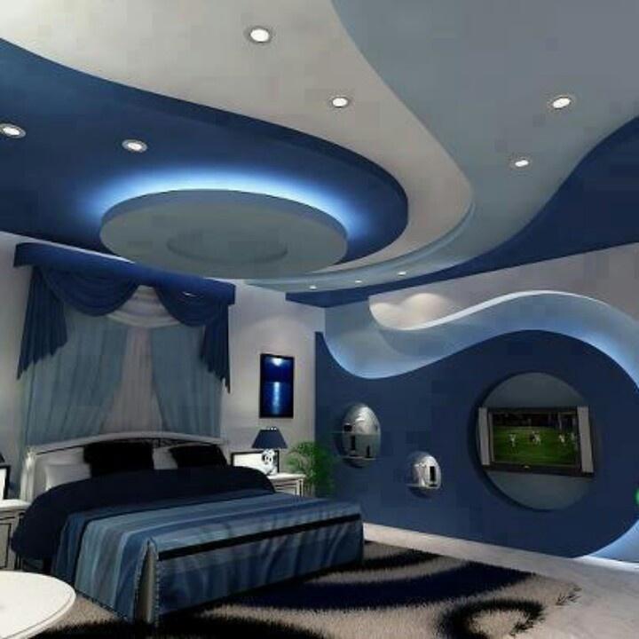 ديكور جبس بورد غرف نوم 2020 5