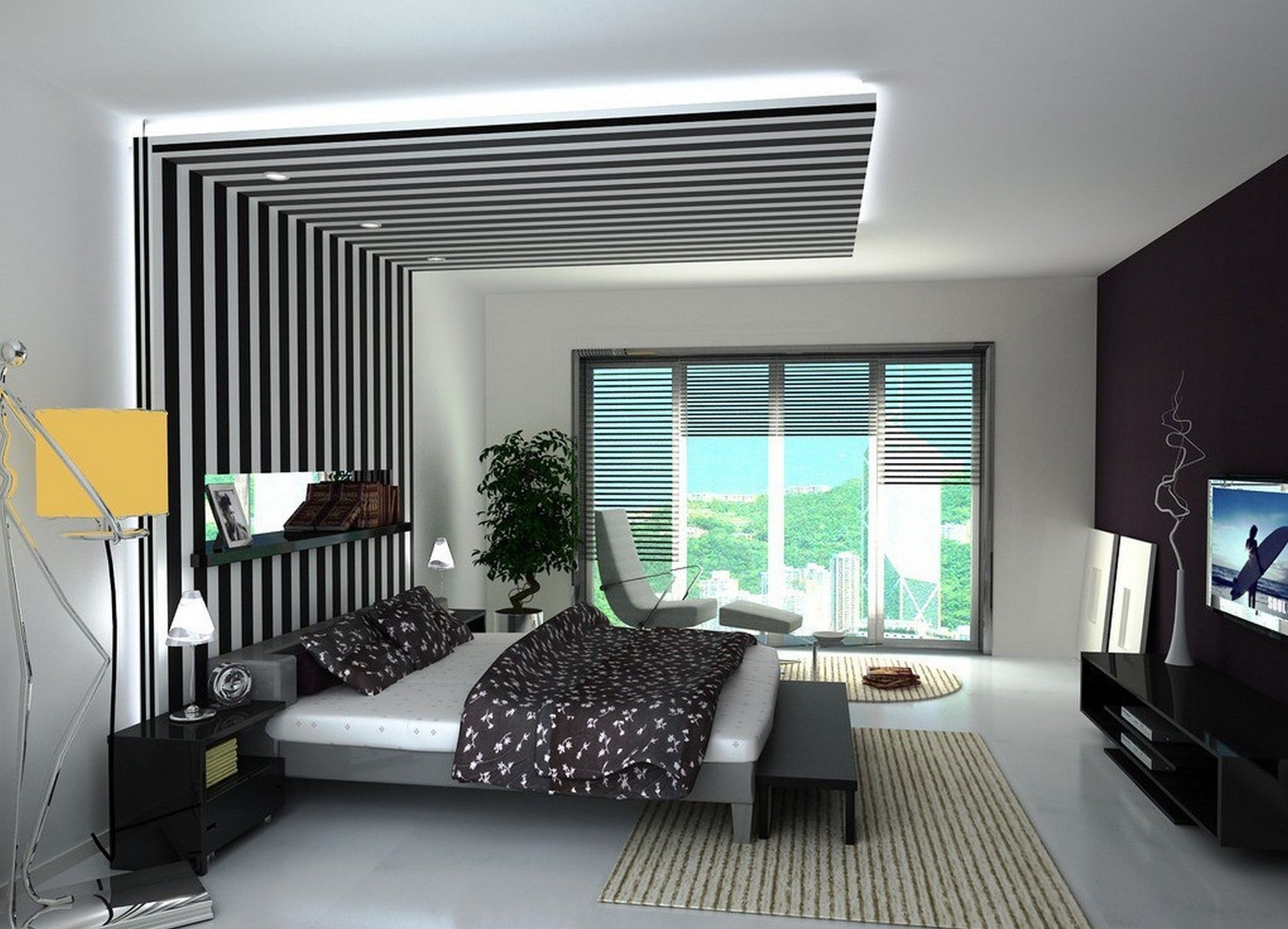 ديكور جبس بورد غرف نوم 2020 8