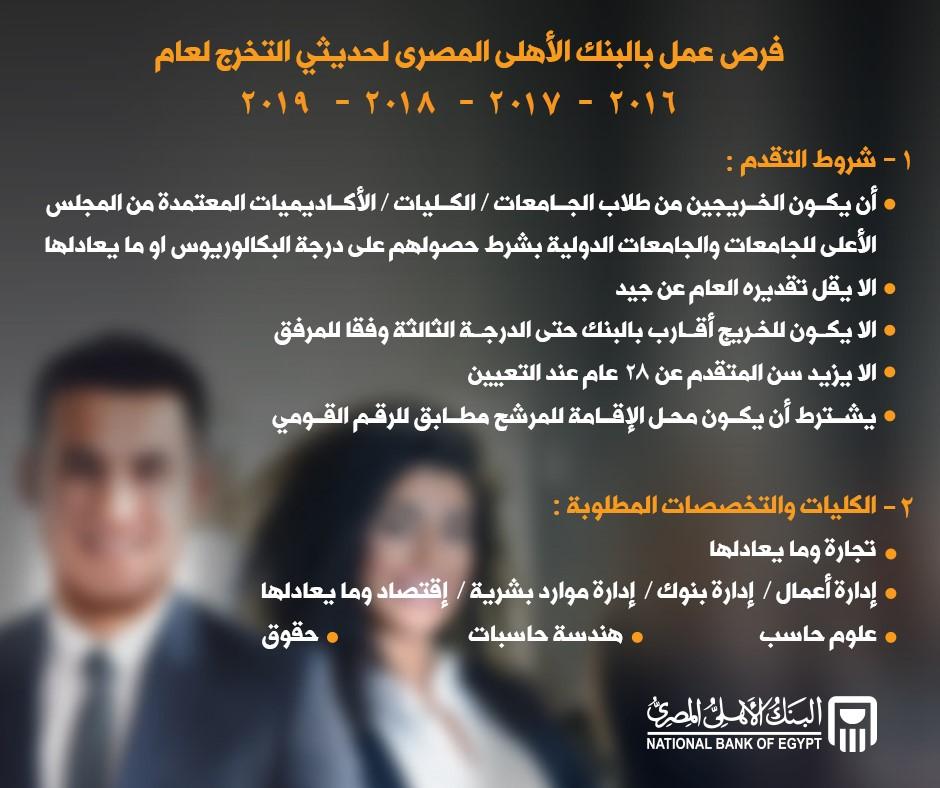 وظائف البنك الأهلي المصري