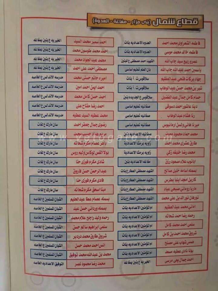 نتيجة الشهادة الاعدادية محافظة المنيا - نتيجة الصف الثالث الاعدادي الترم الثاني 2020 8