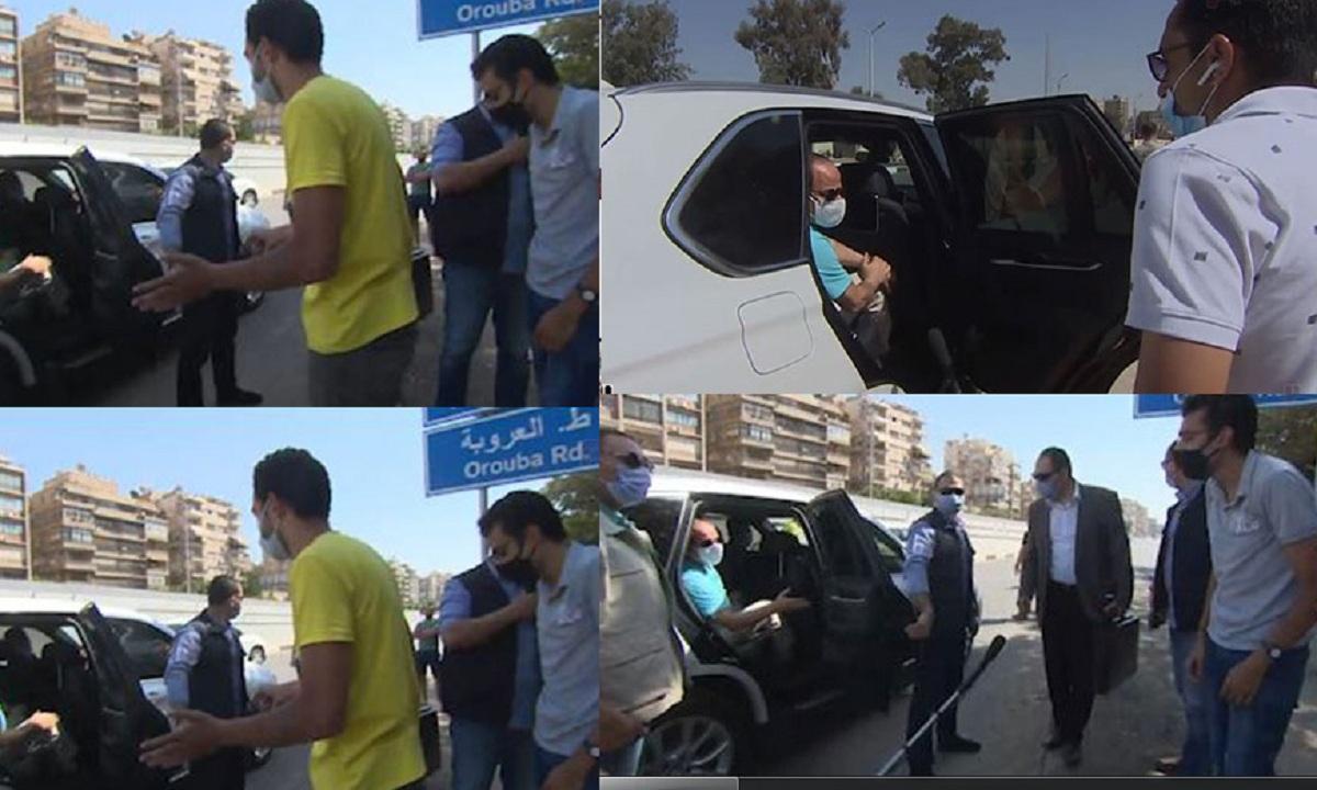 """بالفيديو والصور"""" الرئيس عبد الفتاح السيسي يوقف موكبه لإنقاذ شاب تعرض لحادث.. شاهد ماذا حدث"""