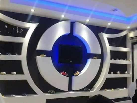 ديكورات شاشات جبس بورد 2020 بلازما و LCD