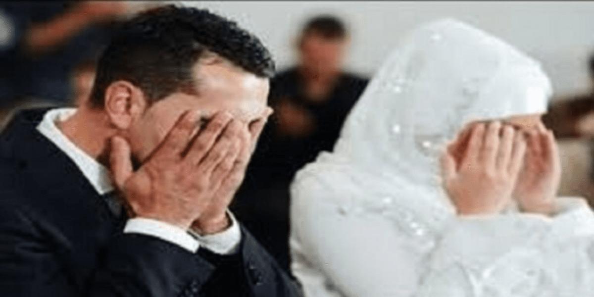 عريس يفاجئ عروسه ليلة الدخلة بالبكاء كالمفجوع لسبب غير متوقع