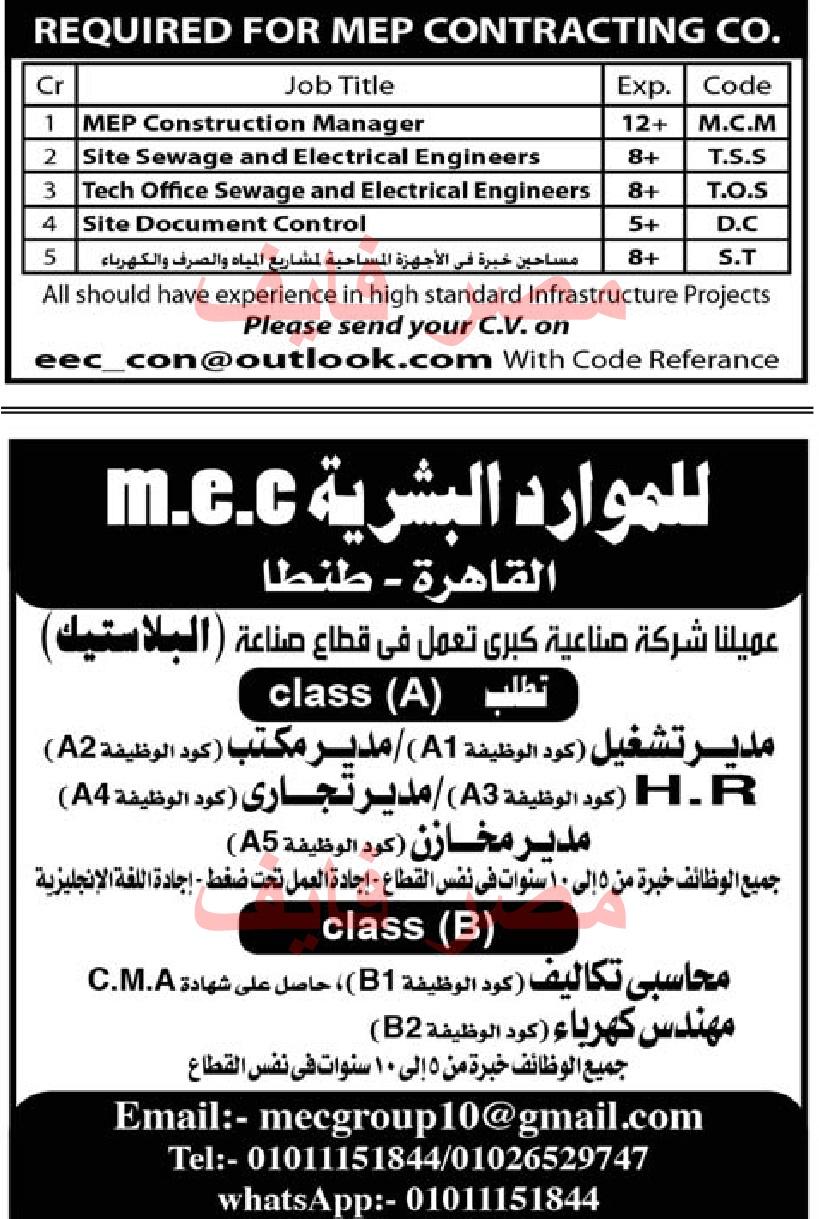 Al Ahram Jobs Friday 8 14 2020 The Egyptian Newspaper Al Ahram Vacant Jobs