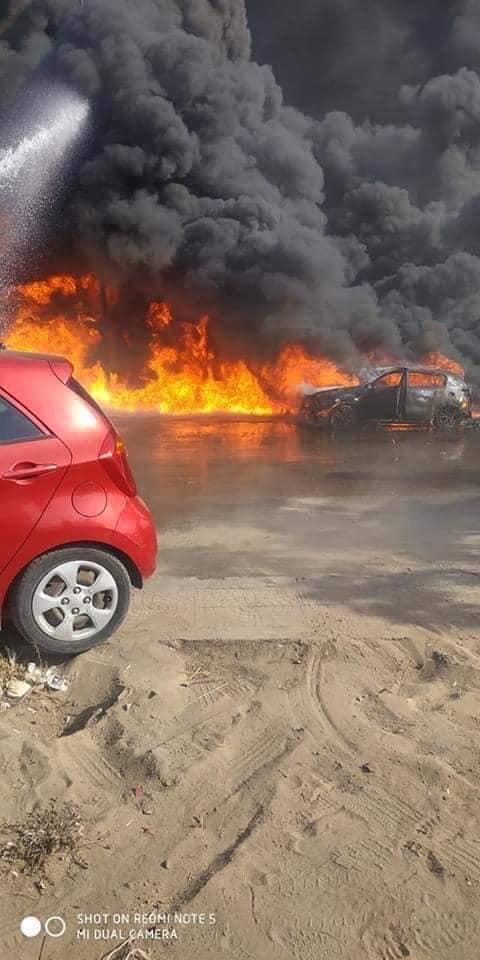 بالصور  تفاصيل حريق ضخم بطريق مصر الإسماعيلية الصحراوي 2