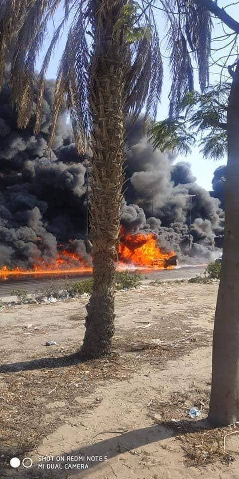 بالصور  تفاصيل حريق ضخم بطريق مصر الإسماعيلية الصحراوي 3