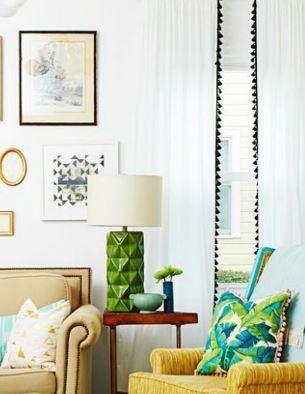 أفكار لستائر غرفة المعيشة تعطي الحياة لمنزلك 3