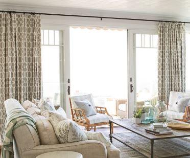 أفكار لستائر غرفة المعيشة تعطي الحياة لمنزلك 4