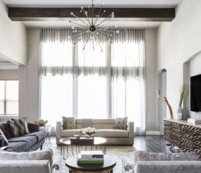 أفكار لستائر غرفة المعيشة تعطي الحياة لمنزلك 9