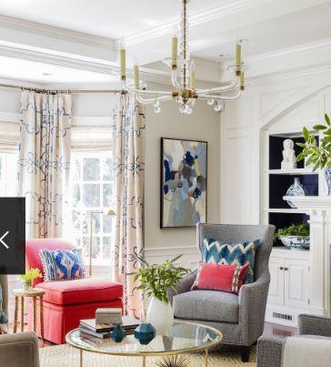 أفكار لستائر غرفة المعيشة تعطي الحياة لمنزلك 2