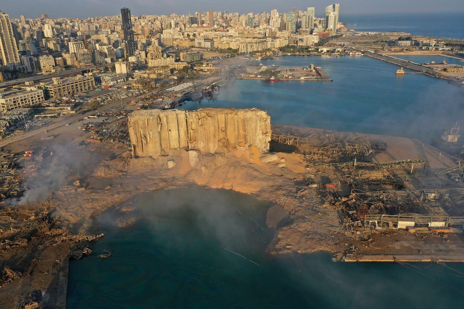 صور القمر الصناعي تظهر حجم الدمار في بيروت بعد الإنفجار