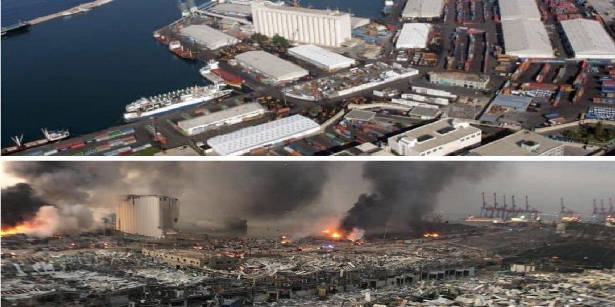 بعد الانفجار: صور القمر الصناعي تظهر حجم الدمار في بيروت
