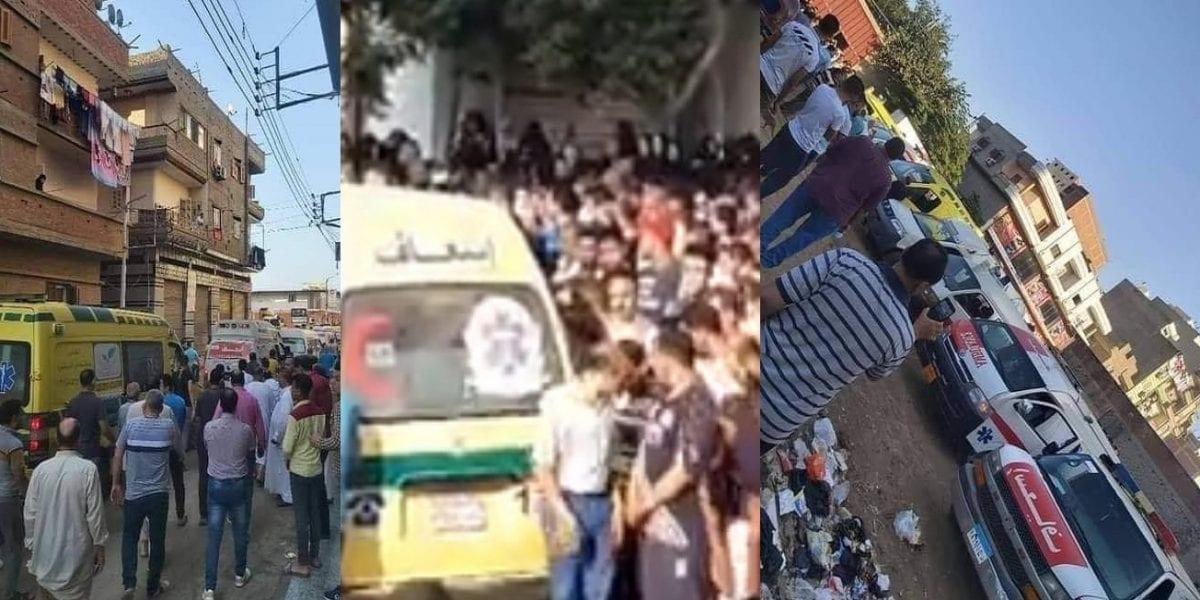 """""""بالأسماء والصور"""" الدقهلية تودع منذ قليل جثامين 8 أشخاص من عائلة واحدة في جنازة شعبية مهيبة حضرها الآلاف"""