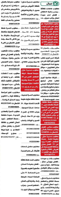 وظائف جريدة الوسيط اليوم الجمعة 7/8/2020 لجميع المؤهلات 12