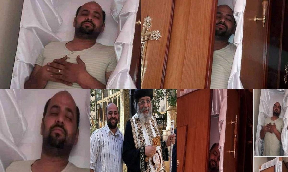 """""""بالفيديو والصور"""" طلبها ونالها.. شاب مصري ينام في النعش ويكتب على الفيس """"قريباً"""" ويموت بعدها بـ5 أيام وصدمة بين أصدقاءه"""