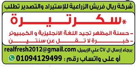 إعلانات وظائف جريدة الوسيط الاثنين 7/9/2020 4