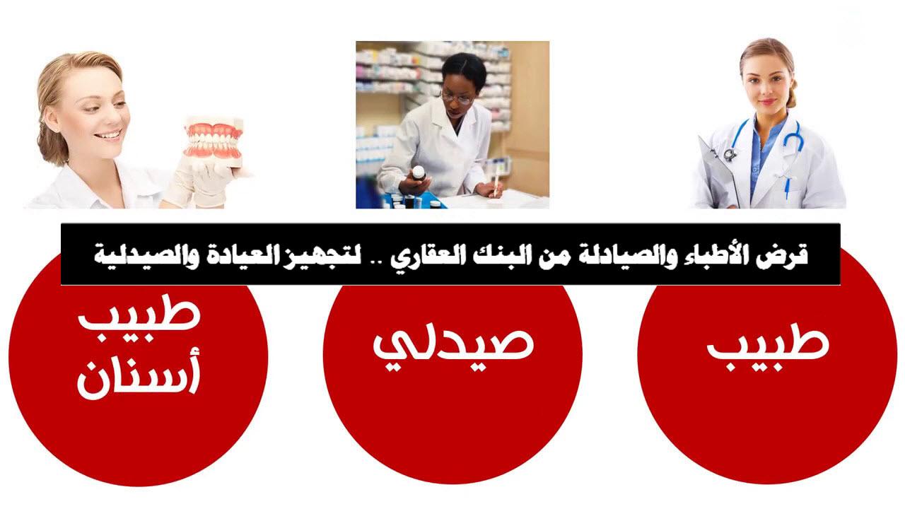 قرض الأطباء والصيادلة من البنك العقاري .. لتجهيز العيادة والصيدلية