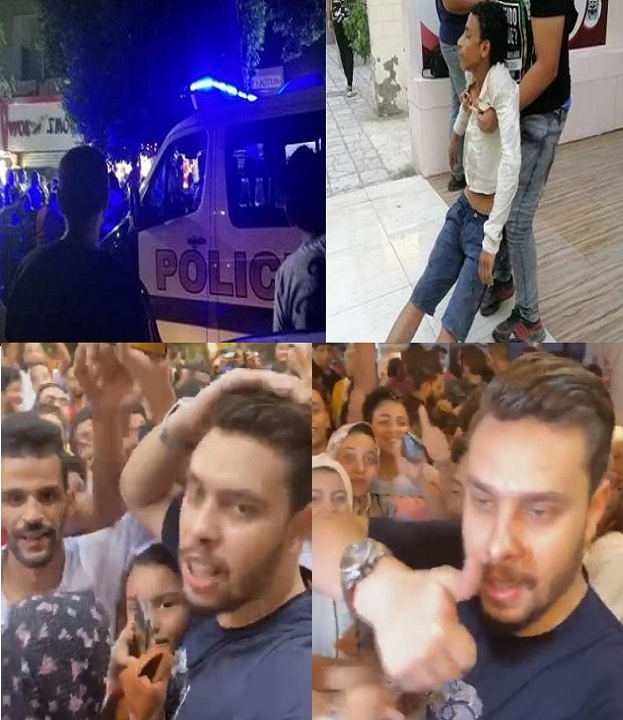 """""""فيديو وصور"""" أحمد حسن وزينب يفتتحان مطعم جديد بالمعادي وزحام شديد وإغماءات والشرطة تتدخل 2"""