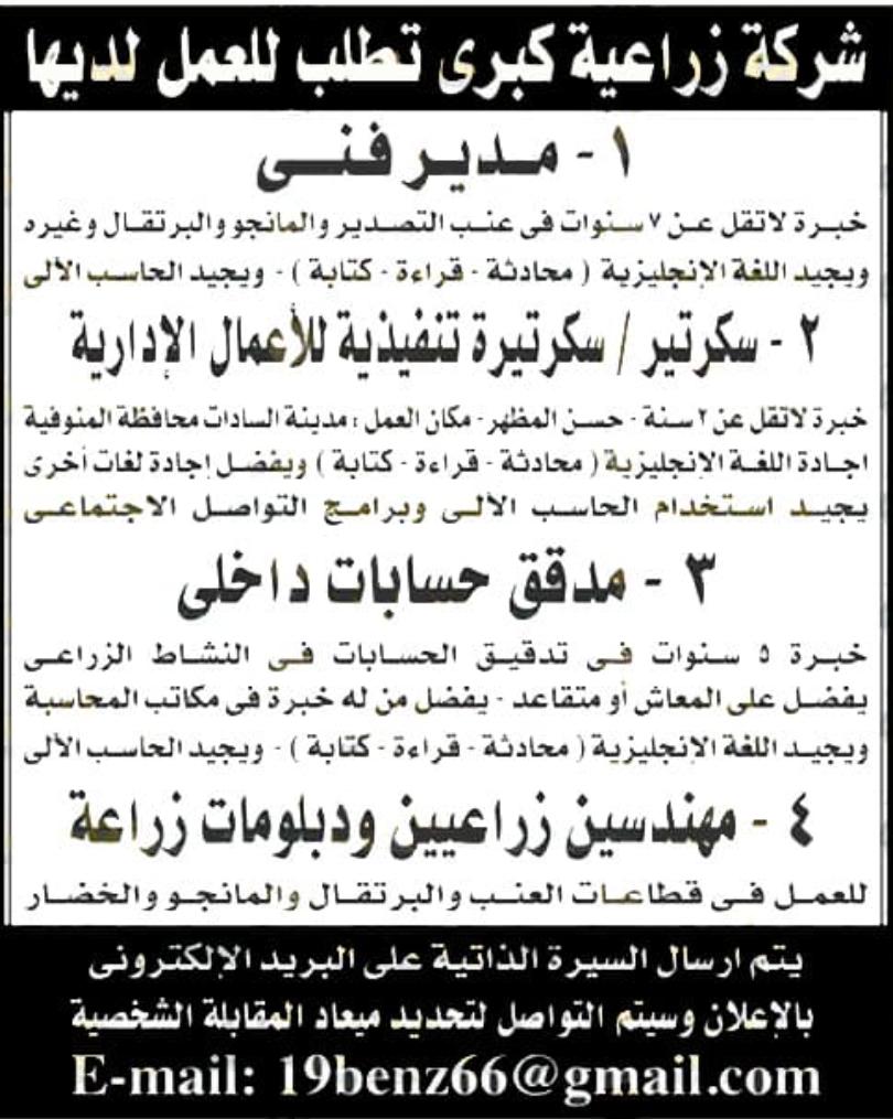 وظائف الأهرام الجمعة 16/10/2020.. جريدة الاهرام المصرية وظائف خالية 3