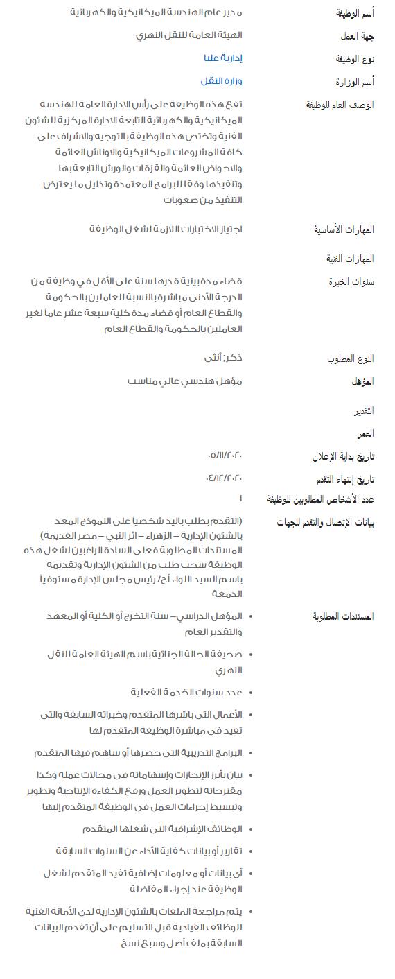 وظائف الحكومة المصرية لشهر ديسمبر 2020 2