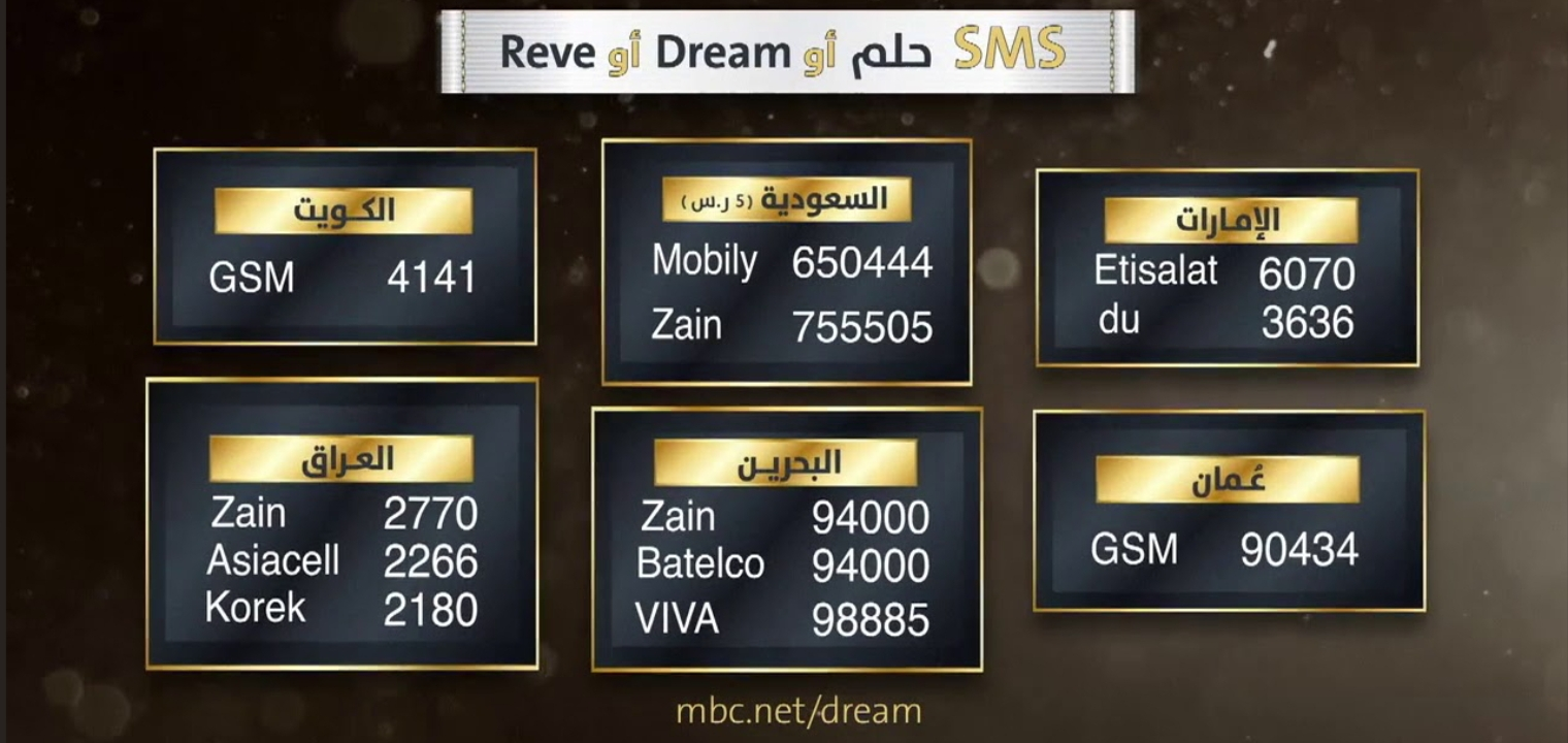 تكلفة سعر رسالة مسابقة الحلم 2021 وطريقة الاشتراك في مسابقة الحلم 2021