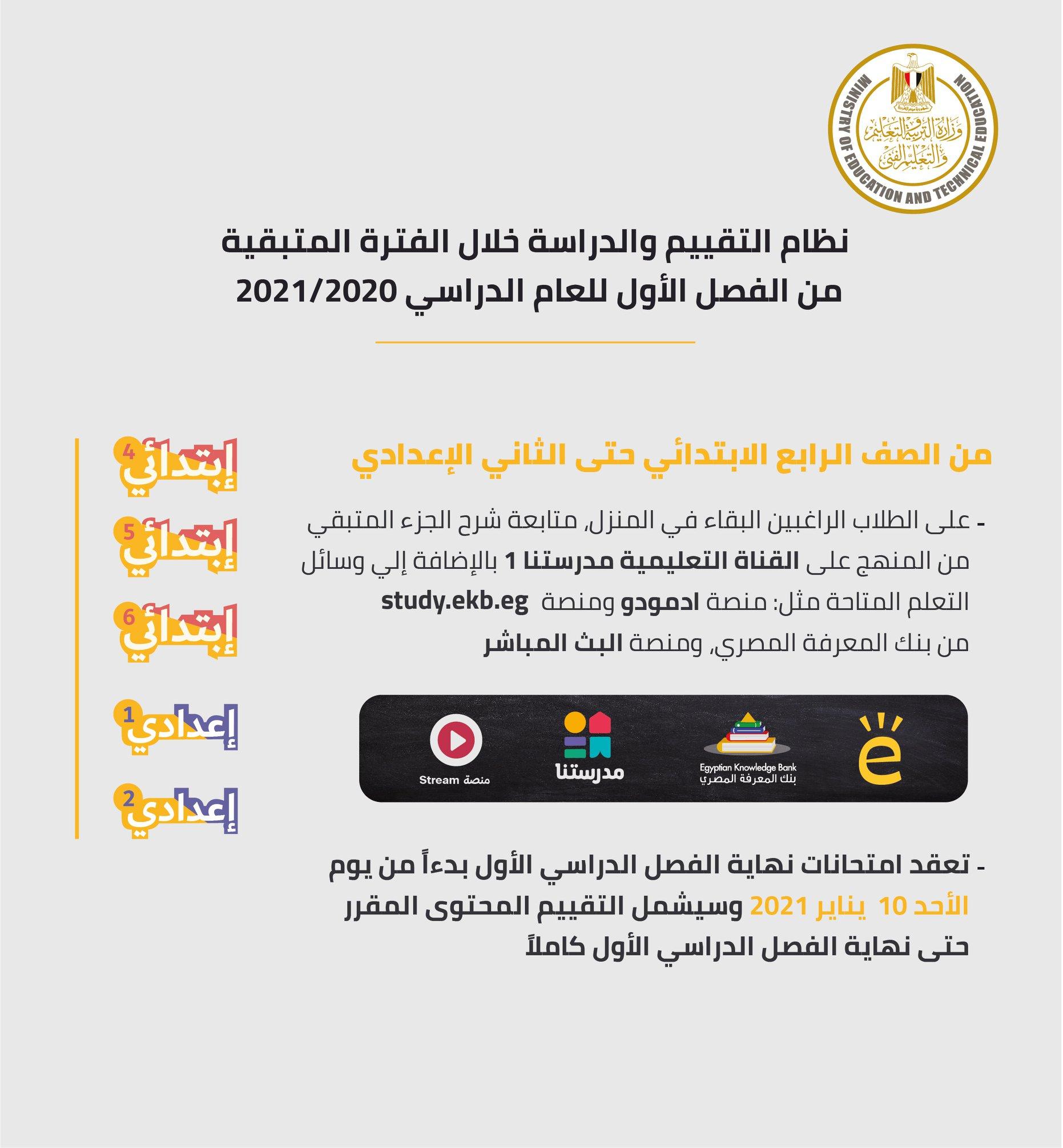 وزير التربية والتعليم يصدر 10 قرارات جديدة لاستكمال الدراسة وموعد جديد لبدء امتحانات سنوات النقل 4