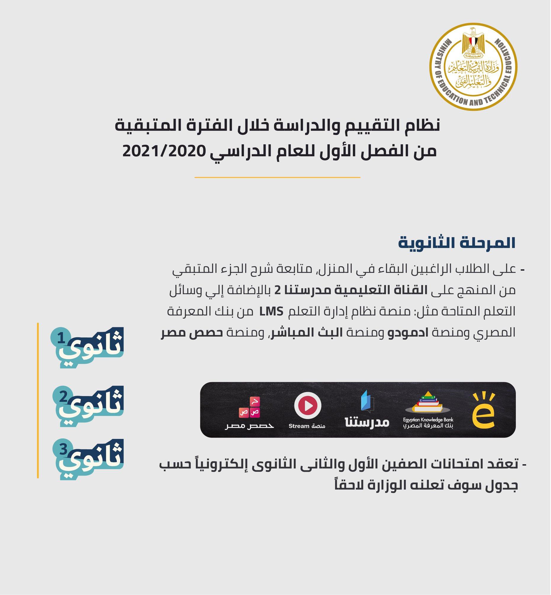 وزير التربية والتعليم يصدر 10 قرارات جديدة لاستكمال الدراسة وموعد جديد لبدء امتحانات سنوات النقل 6