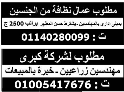 إعلانات وظائف جريدة الوسيط اليوم الجمعة 25/12/2020 6