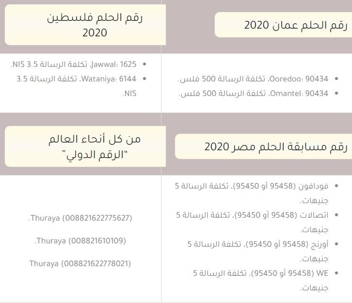 رابط مسابقة الحلم 2021 الرسمي للفوز بـ3000 دولار يوميًا وكيفية الفوز بـ MBC DREAM وأرقام الإشتراك 1