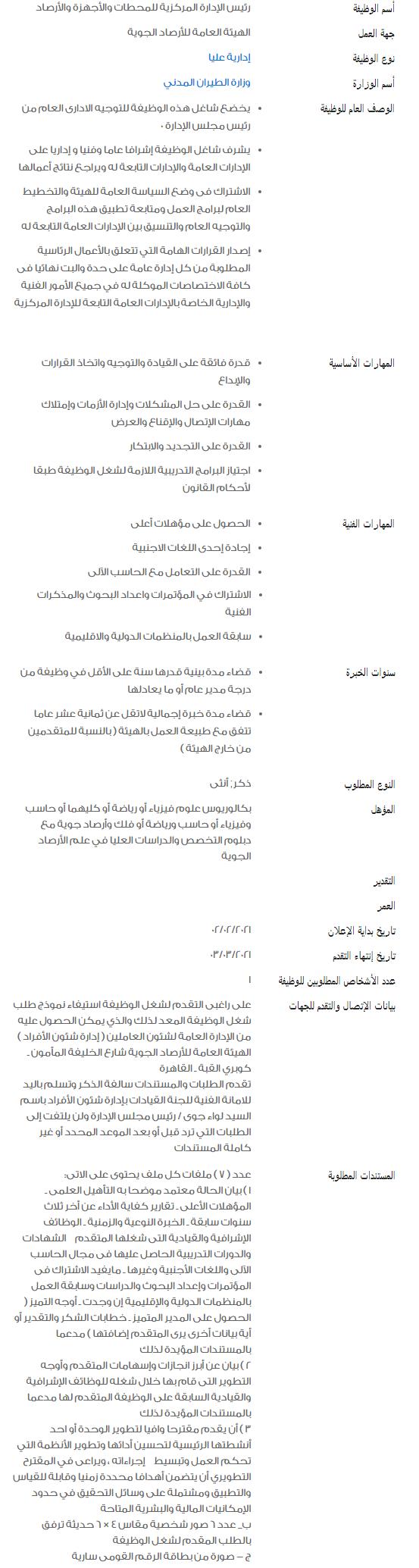 وظائف الحكومة المصرية لشهر فبراير 2021 وظائف بوابة الحكومة المصرية 4