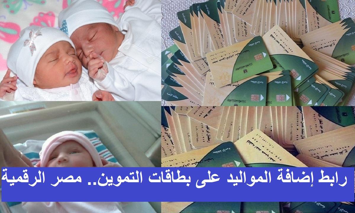 موقع بوابة مصر الرقمية 2021 لإضافة المواليد على بطاقات التموين والفئات المستحقة للإضافة