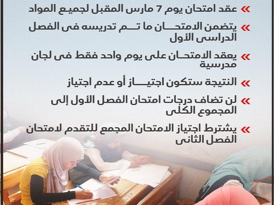 وزير التعليم يعلن رسمياً تفاصيل وموعد امتحانات الشهادة الإعدادية 2021 الترم الأول 3