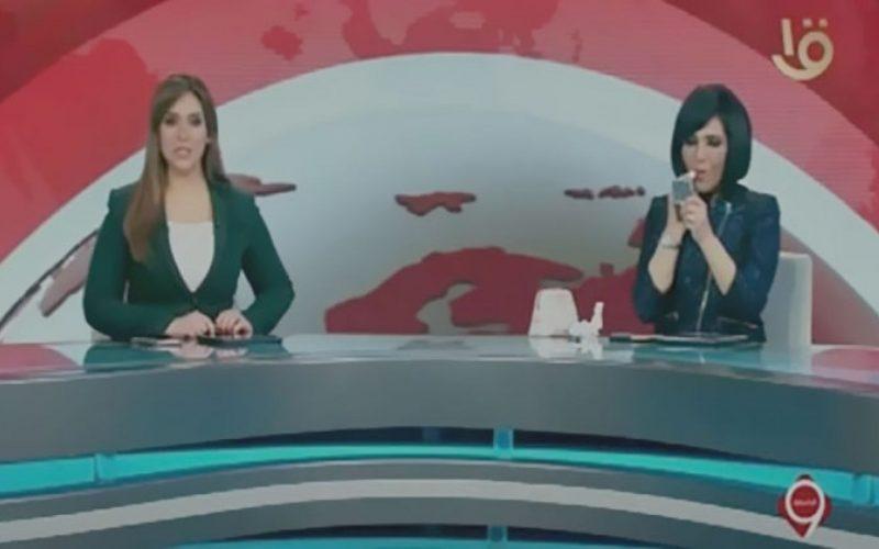 بالفيديو.. مذيعة القناه الأولى تضع روج على الهواء أثناء نشرة التاسعة وأول قرار ضدها وفريق العمل