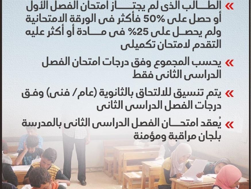 وزير التعليم يعلن رسمياً تفاصيل وموعد امتحانات الشهادة الإعدادية 2021 الترم الأول 4