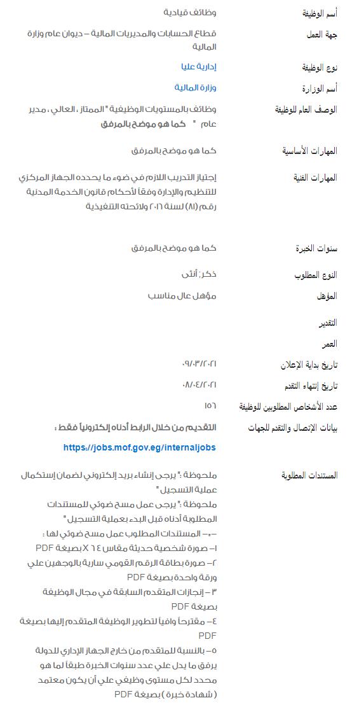 وظائف الحكومة المصرية لشهر أبريل 2021 وظائف بوابة الحكومة المصرية 1
