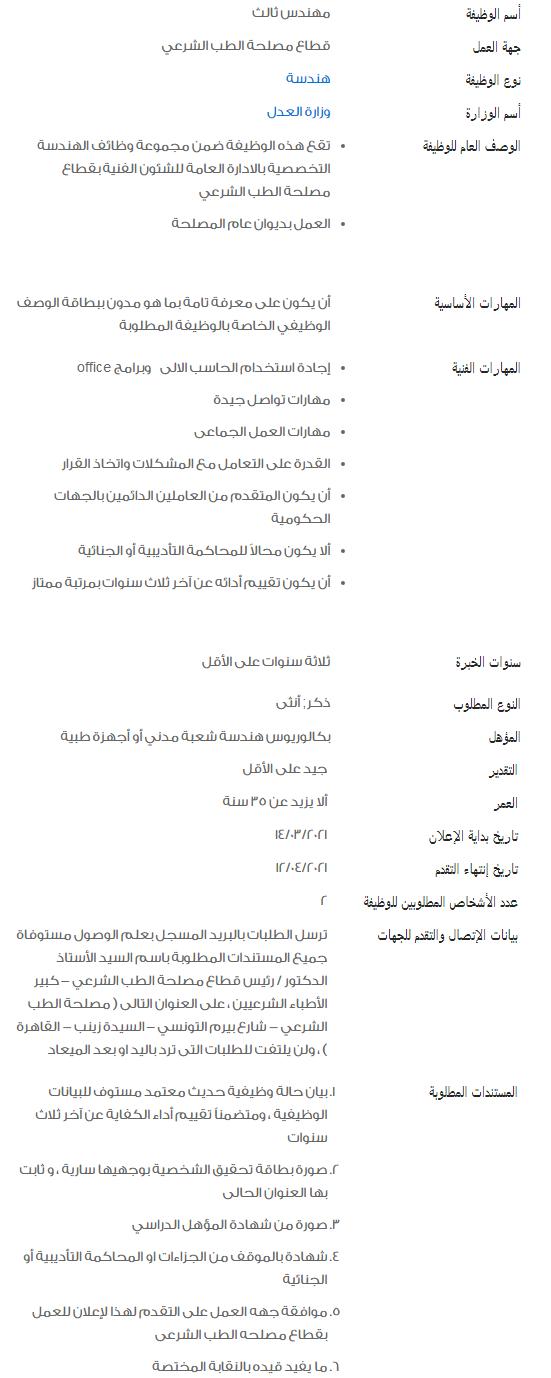وظائف الحكومة المصرية لشهر أبريل 2021 وظائف بوابة الحكومة المصرية 5