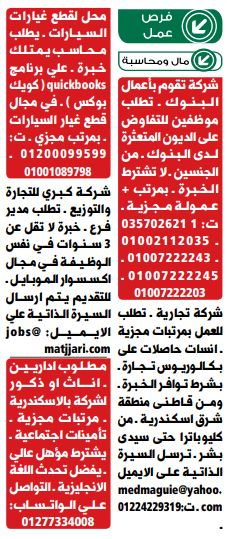 وظائف جريدة الوسيط الاسكندرية