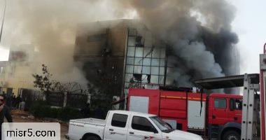 حريق مصنع ملابس بالعبور