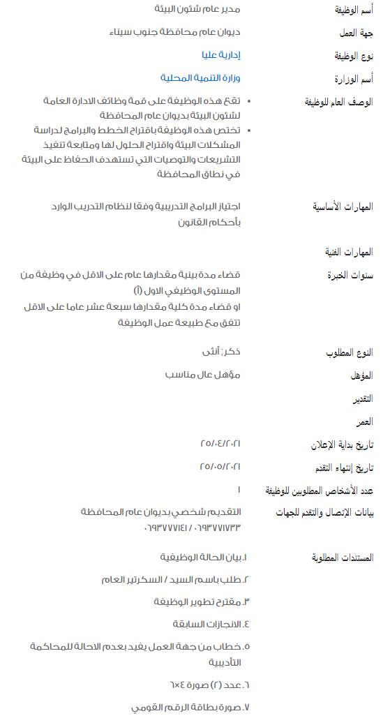 وظائف الحكومة المصرية لشهر مايو 2021 وظائف بوابة الحكومة المصرية 5