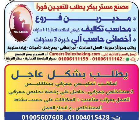 وظائف الوسيط اليوم 26/4/2021 نسخة الاسكندرية 11