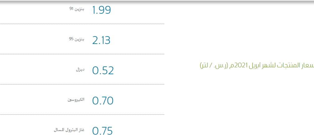 أرامكو السعودية تعلن أسعار البنزين الجديدة عن شهر يونيو 2021 والتطبيق بدايةً من الجمعة 11 يونيو 5