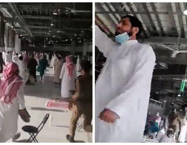 بالفيديو.. لحظة القبض على مسلح داخل الحرم المكي بالمسجد الحرام وهو يردد عبارات مؤيدة لتنظيم إرهابي 2