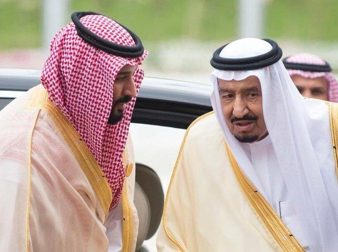 الملك سلمان بن عبدالعزيز و الأمير محمد بن سلمان