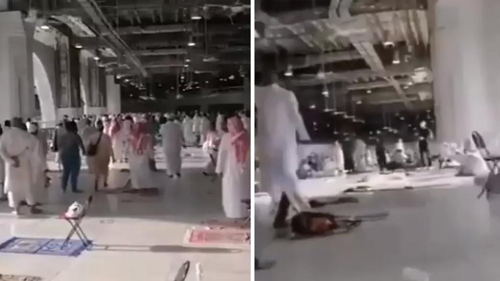 بالفيديو.. لحظة القبض على مسلح داخل الحرم المكي بالمسجد الحرام وهو يردد عبارات مؤيدة لتنظيم إرهابي 4