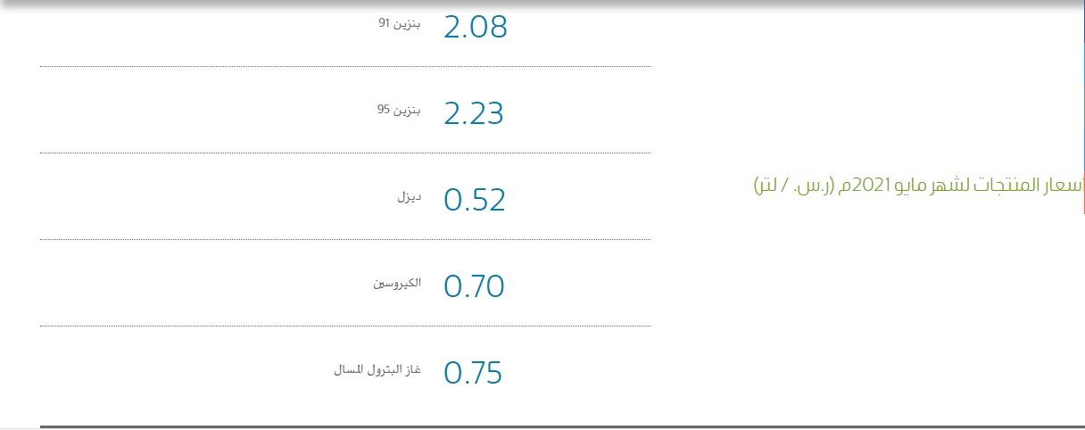 أرامكو السعودية تعلن أسعار البنزين الجديدة عن شهر يونيو 2021 والتطبيق بدايةً من الجمعة 11 يونيو 4