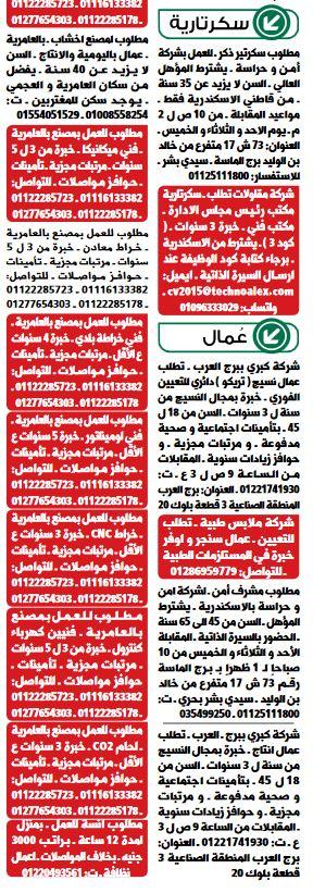 وظائف الوسيط اليوم 31/5/2021 نسخة الاسكندرية 2