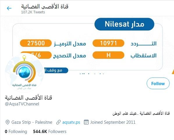 تردد قناة الأقصى الجديد 2021 لمتابعة أحداث فلسطين والقدس والمسجد الأقصى 2