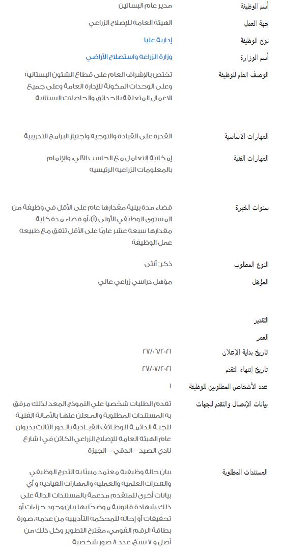 وظائف الحكومة المصرية لشهر يوليو 2021 وظائف بوابة الحكومة المصرية 2